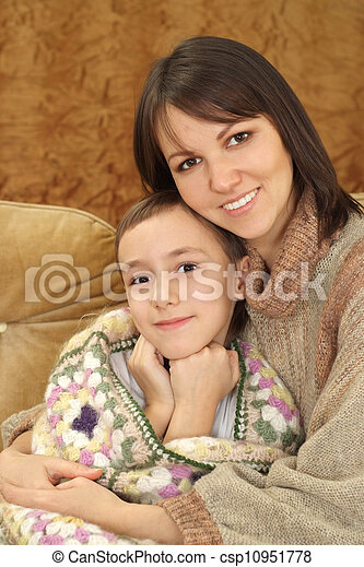 Charming Caucasian mama with her son - csp10951778