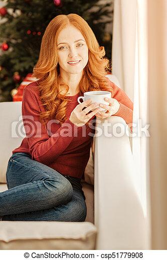 Mature redhead sofa