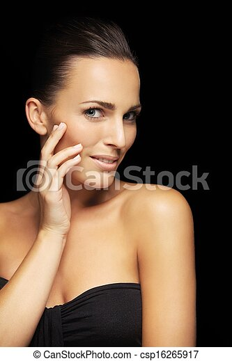 Charming young woman with healthy skin - csp16265917