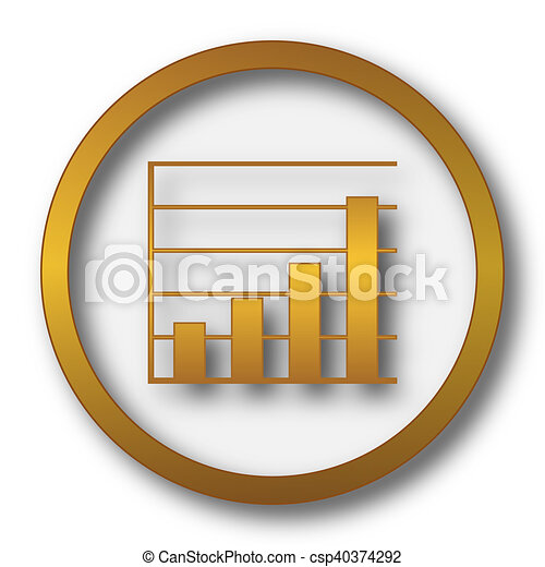 Chart bars icon - csp40374292