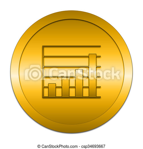 Chart bars icon - csp34693667
