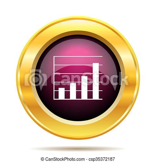 Chart bars icon - csp35372187