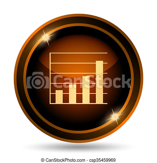 Chart bars icon - csp35459969
