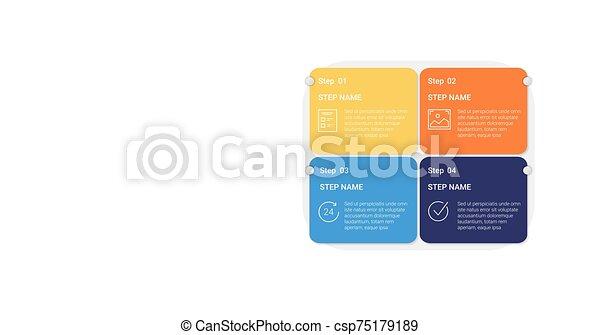 chart., empresa / negocio, cinta, pasos - csp75179189