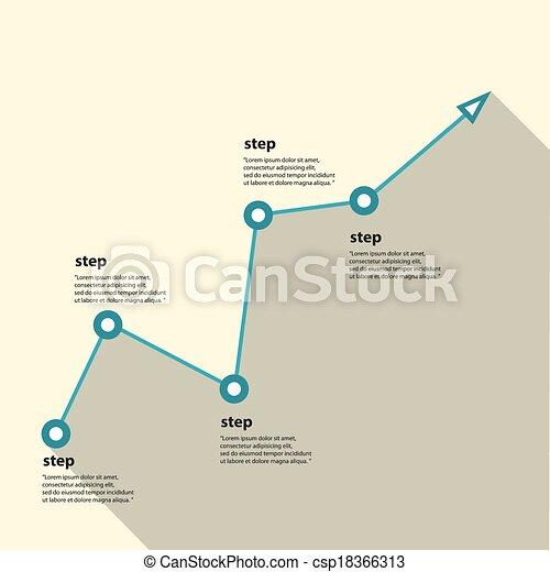 Gráfico de negocios y gráfico. Ilustración de vectores - csp18366313