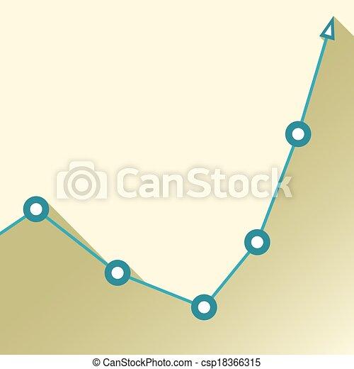Gráfico de negocios y gráfico. Ilustración de vectores - csp18366315