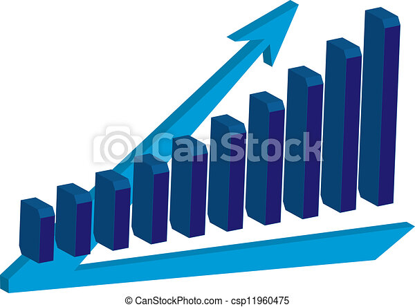 Chart growth  - csp11960475