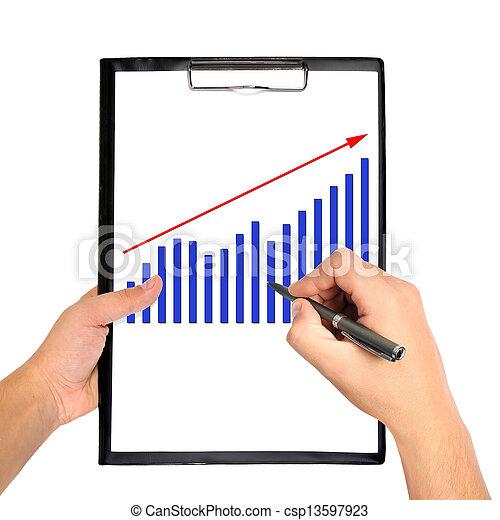 chart on clipboard - csp13597923