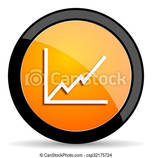 chart orange icon - csp32175724