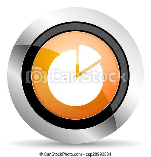 chart orange icon - csp28990384