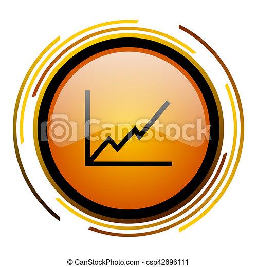 chart round design orange glossy web icon - csp42896111