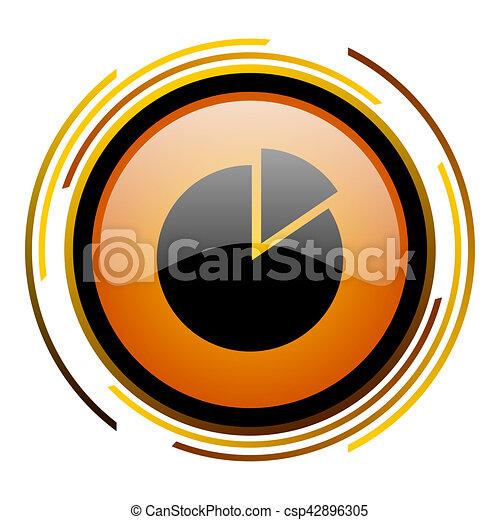 chart round design orange glossy web icon - csp42896305
