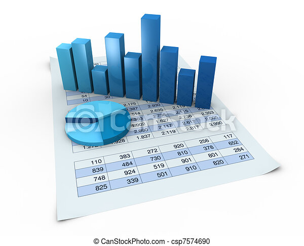 charts and spreadsheets - csp7574690