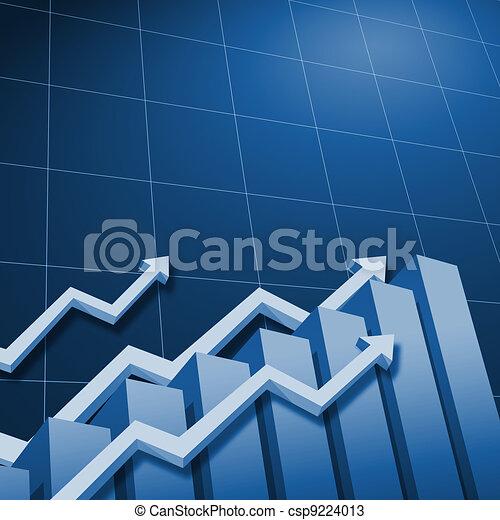 Charts and upward directed arrows - csp9224013