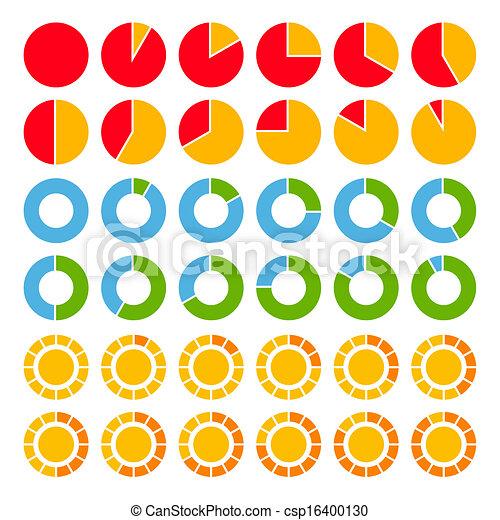 charts., brillamment, ensemble, coloré, tarte - csp16400130