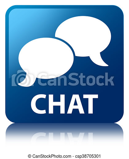Chat blue square button - csp38705301
