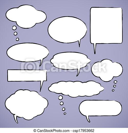 Chat bubbles illustration - csp17953662