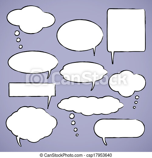 Chat bubbles vector illustration - csp17953640