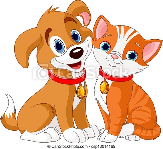 chat, chien - csp10014169