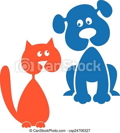 chat, chien - csp24706327
