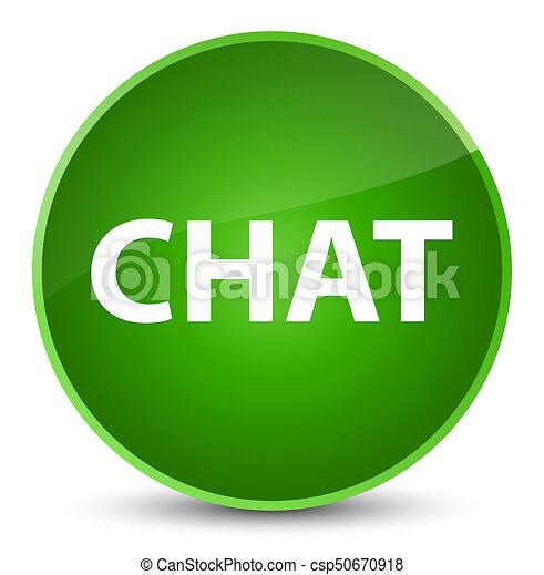Chat elegant green round button - csp50670918