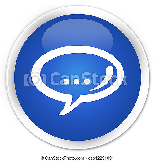 Chat icon blue glossy round button - csp42231031