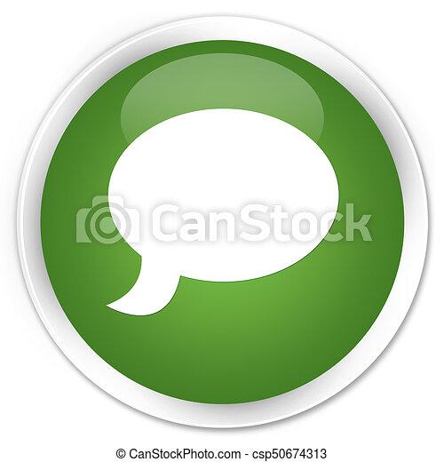 Chat icon premium soft green round button - csp50674313