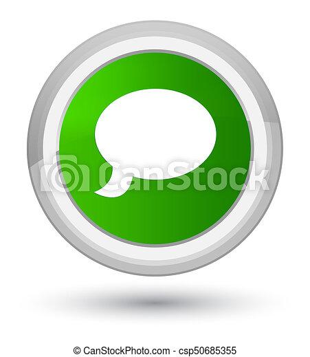 Chat icon prime green round button - csp50685355