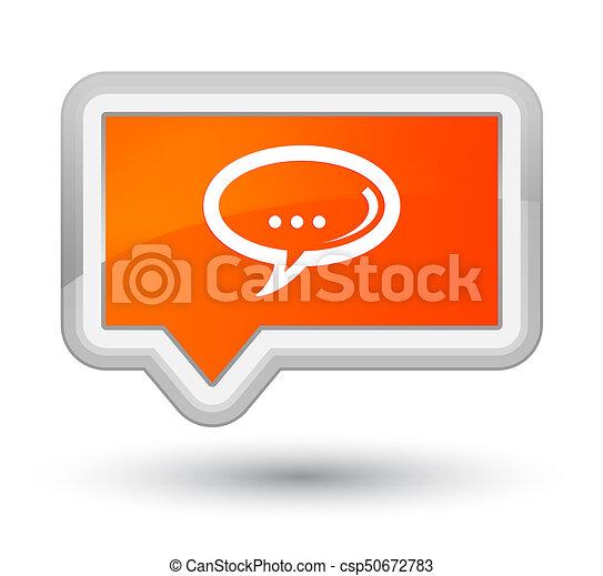 Chat icon prime orange banner button - csp50672783