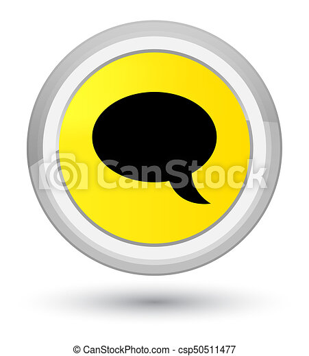 Chat icon prime yellow round button - csp50511477