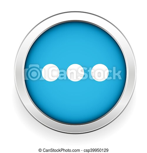 Chat icon vector blue button - csp39950129
