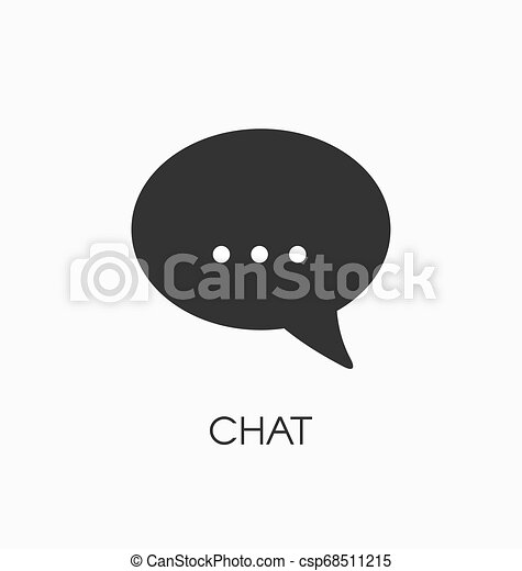 Chat icon vector sign - csp68511215