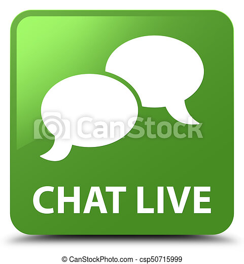 Chat live soft green square button - csp50715999
