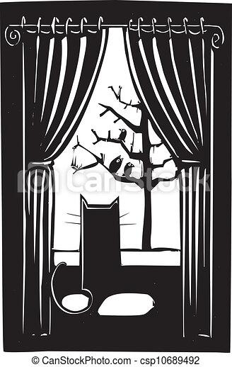 chat maison - csp10689492