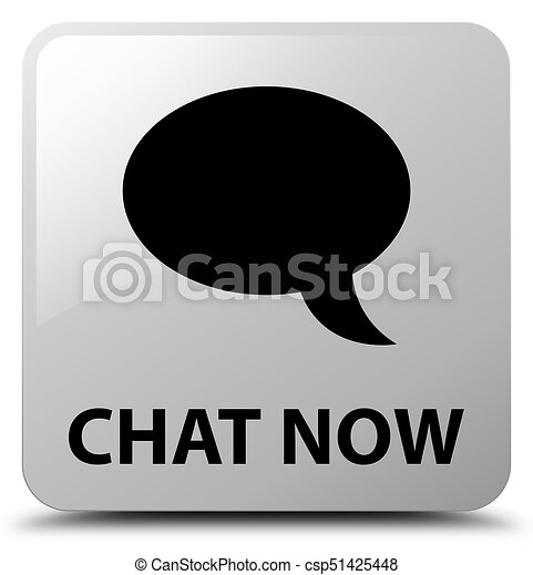 Chat now white square button - csp51425448