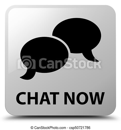 Chat now white square button - csp50721786