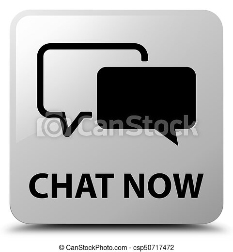 Chat now white square button - csp50717472