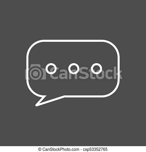 Chat or text messaging bubbles with dots line art icon apps and websites