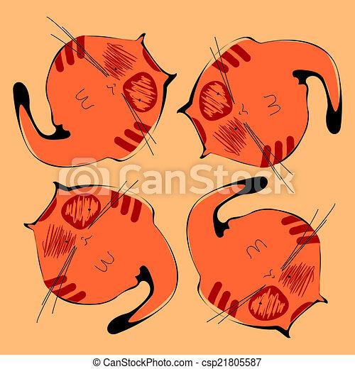 chat orange - csp21805587