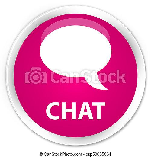 Chat premium pink round button - csp50065064