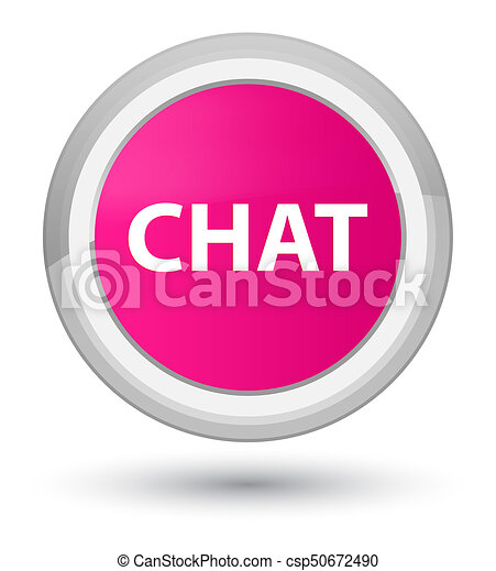 Chat prime pink round button - csp50672490