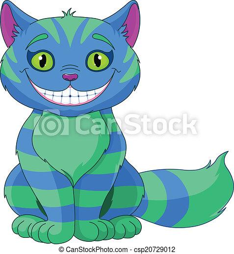 chat, sourire, cheshire - csp20729012