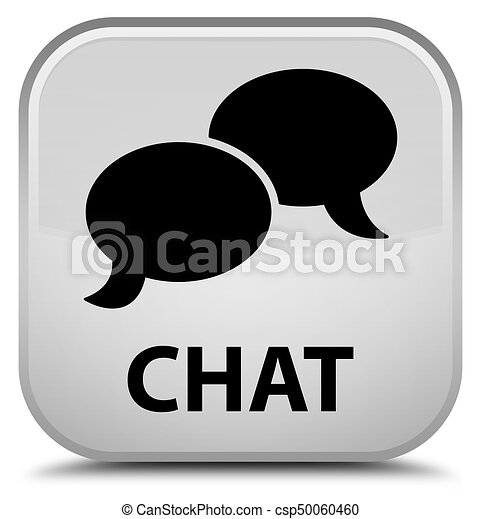 Chat special white square button - csp50060460