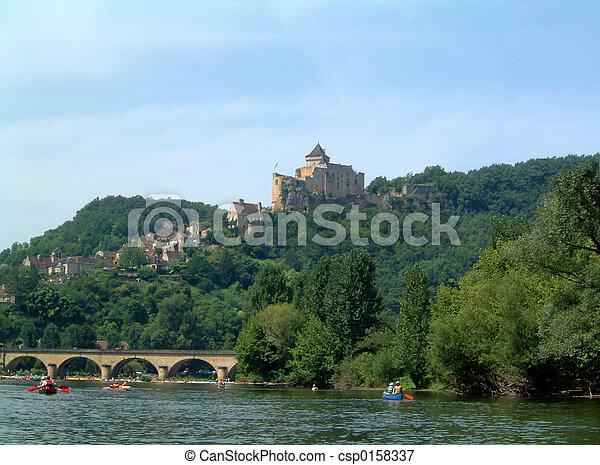 Chateau above Dordogne - csp0158337