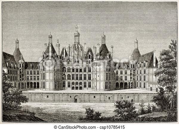 chateau chambord non identifi de vieux auteur 1842 clipart recherchez illustrations. Black Bedroom Furniture Sets. Home Design Ideas