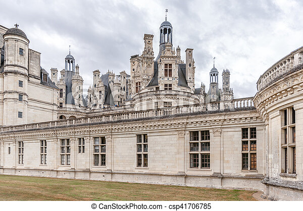 Chateau de Chambord, royal medieval castle. Loire Valley, France, - csp41706785