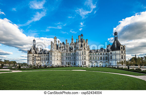 Chateau de Chambord, the largest castle in the Loire Valley, France - csp52434004
