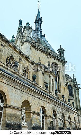 Chateau de Chantilly (France).  - csp25382235