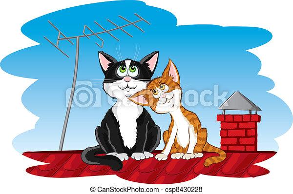 chats, toit - csp8430228