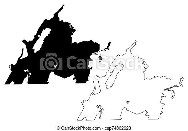 Chattanooga City (United States cities, United States of America, usa city) map vector illustration, scribble sketch City of Chattanooga map - csp74862623
